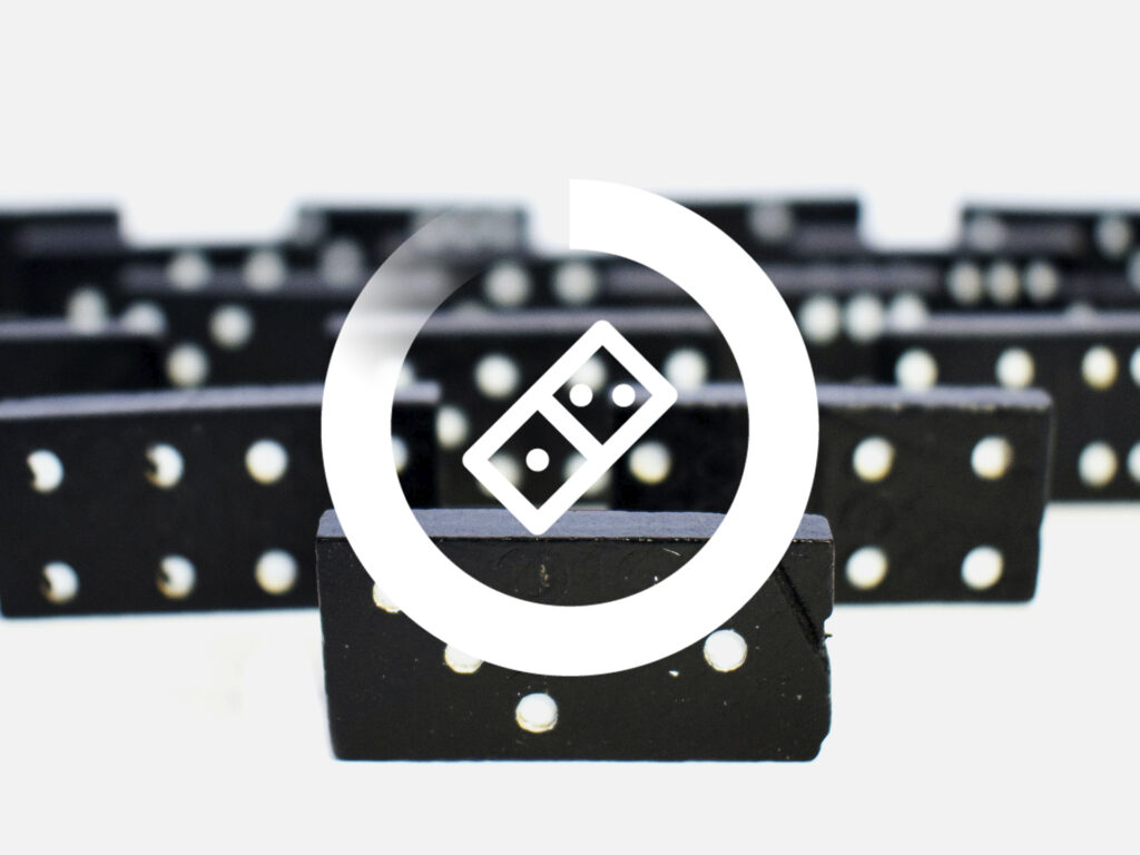 Bild på dominobrickor