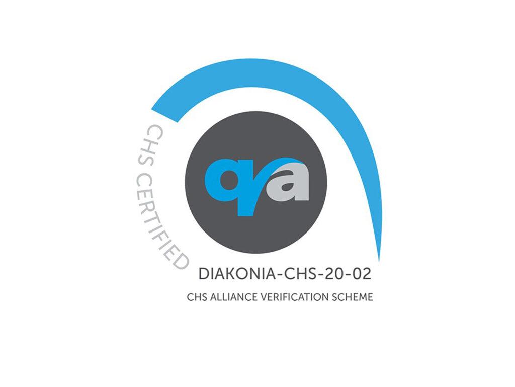 """CHS-logotyp med texten """"CHS CERTIFIED"""""""