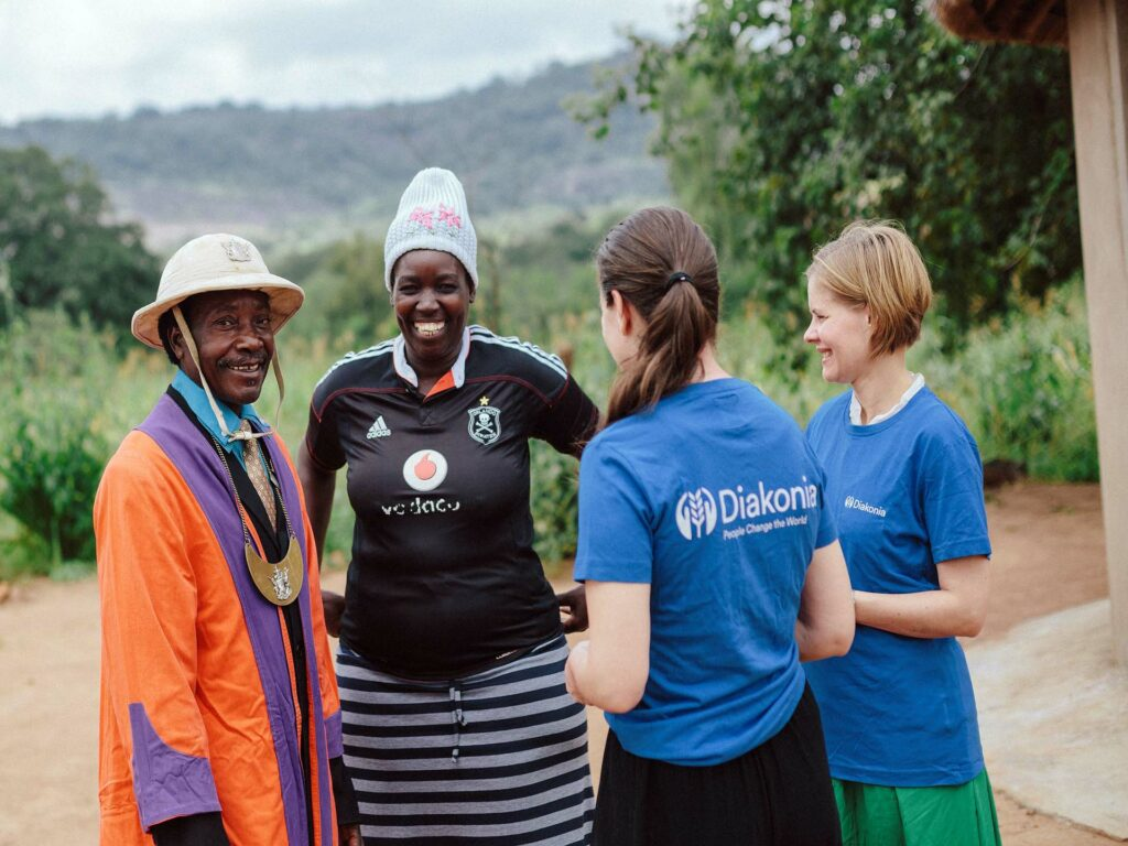 Två personer från Diakonia på arbetsresa i Zimbabwe