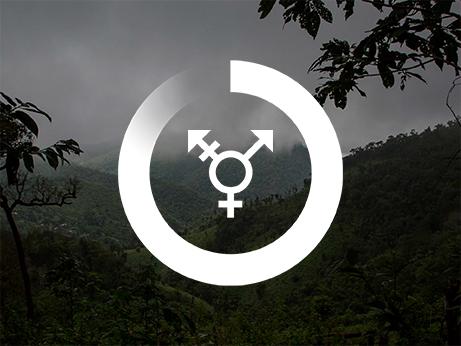 En symbol för jämställdhet på en mörk bakgrund