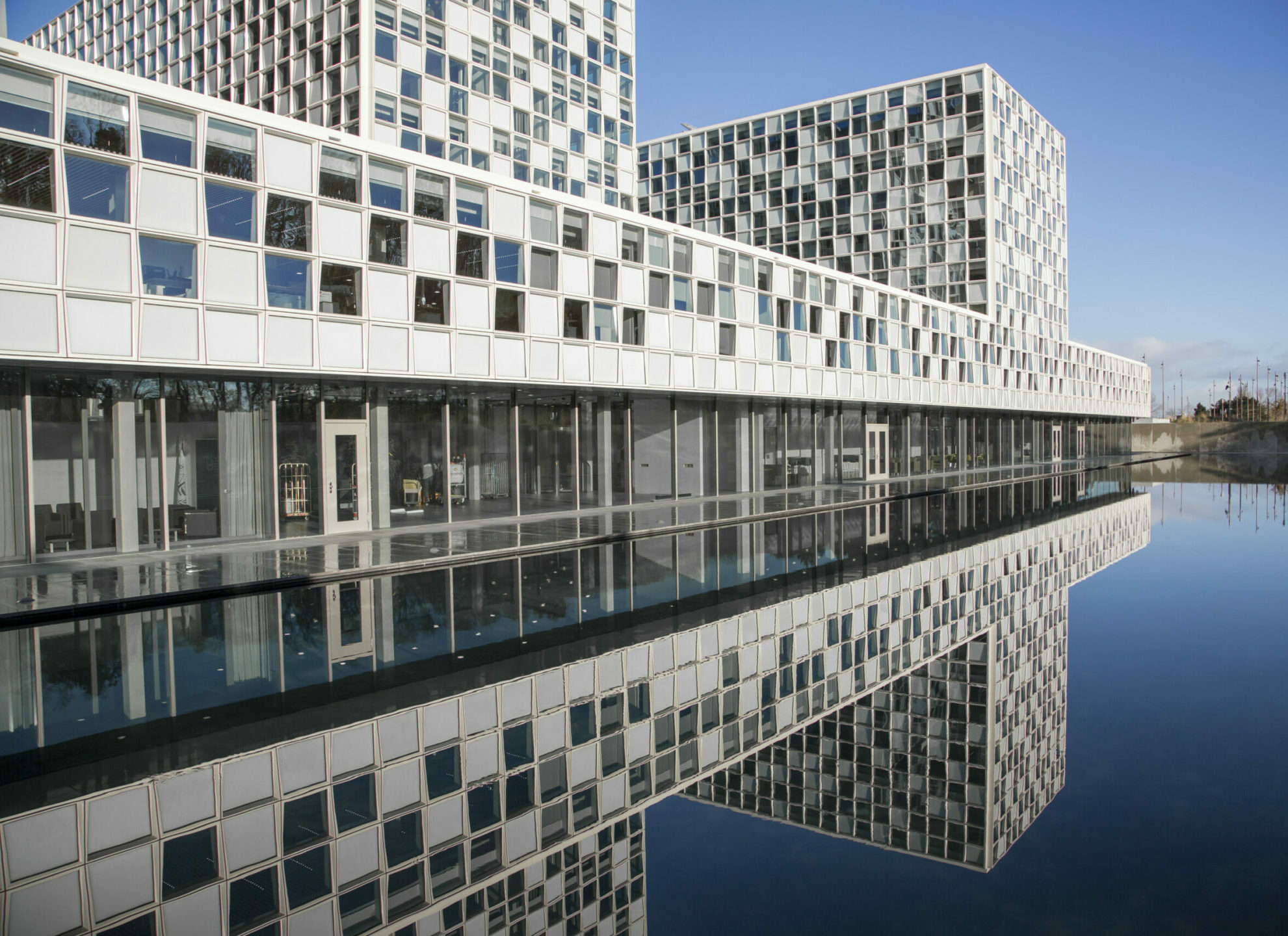 The building of the International Criminal Court.