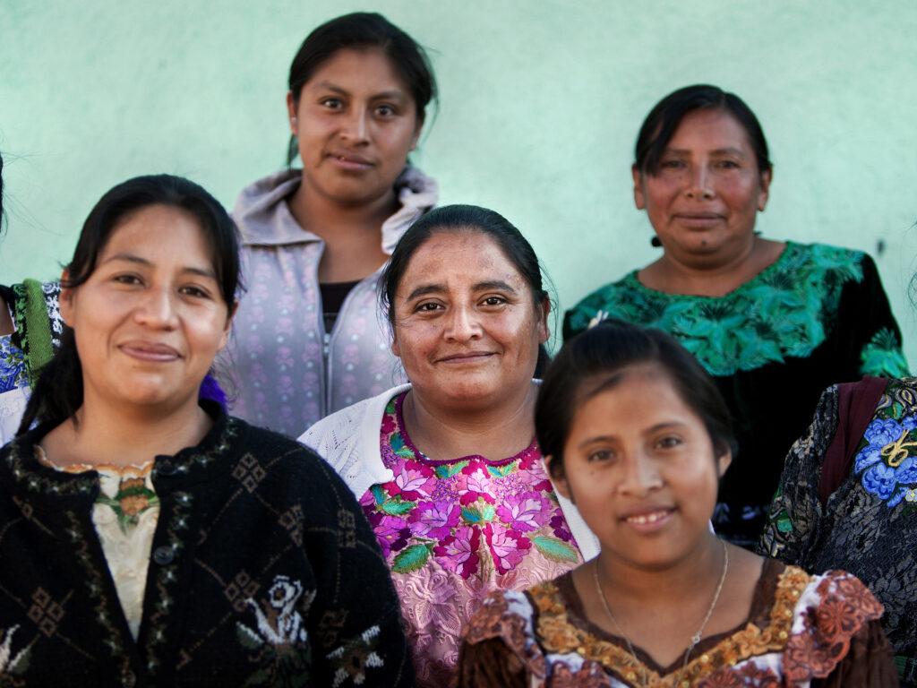 A group of Guatemalan women.
