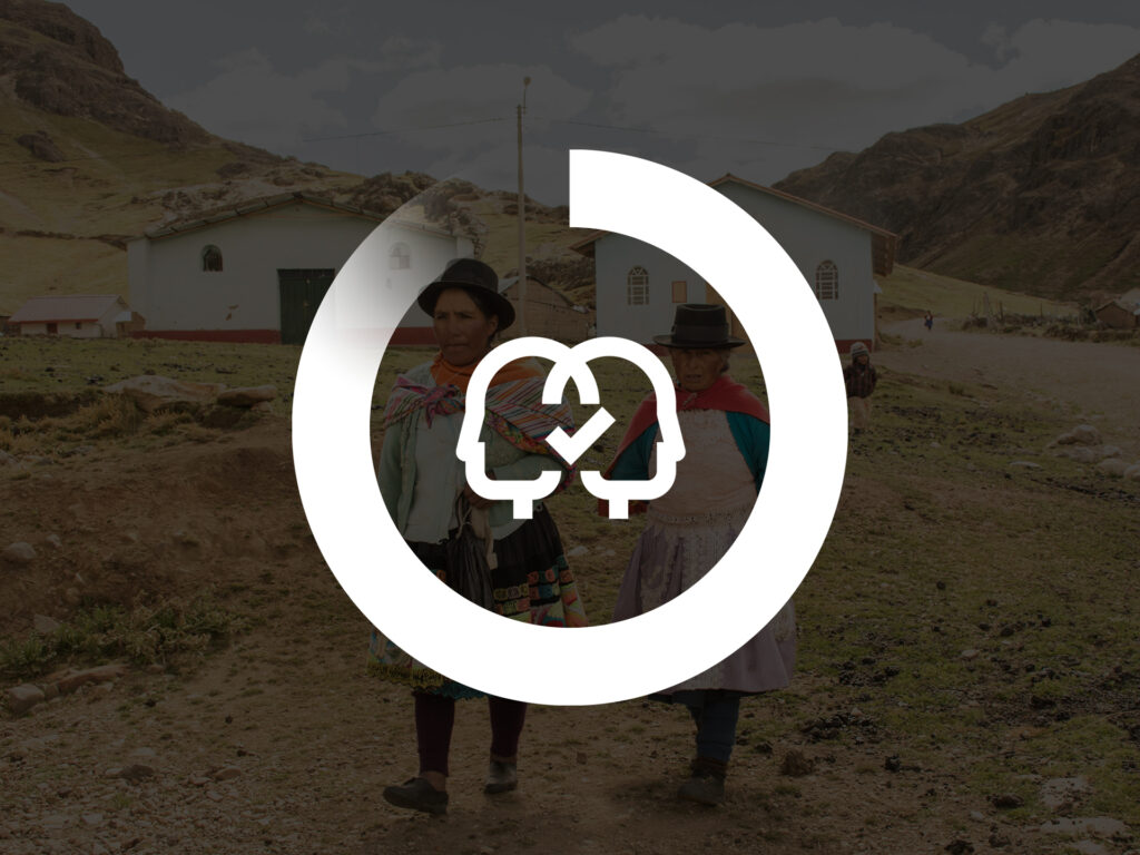 A graphic image showing the Diakonia circle progressbar with a symbol with two people inside.